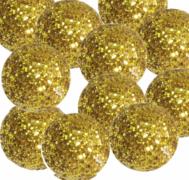 Dekorační třpytivé kuličky zlaté