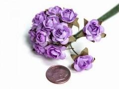 Papírové růžičky světle fialové 12 ks