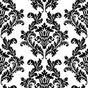 Ubrousky Černý ornament 20 ks