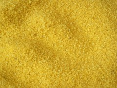 Dekorační písek sytě žlutý 400 g