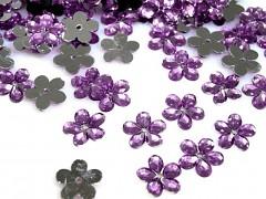 Aplikace světle fialová lila kytička 11 mm