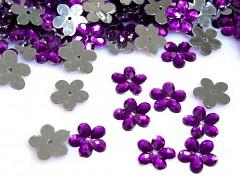 Aplikace fialová kytička 11 mm