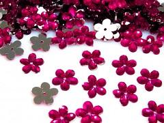 Aplikace sytě růžová kytička 11 mm