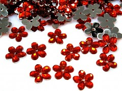 Aplikace červená kytička 11 mm