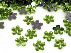 Aplikace olivově zelená kytička 11 mm