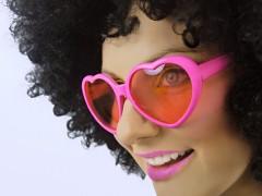 Party brýle srdíčka růžová