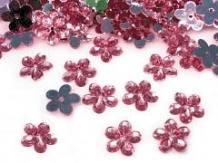 Aplikace růžová kytička 11 mm
