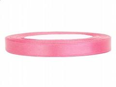 Stuha saténová růžová 6 mm x 25 m