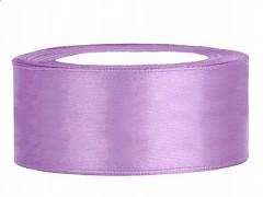 Stuha saténová fialová lila 25 mm x 25 m