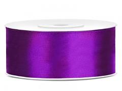 Stuha saténová fialová 25 mm x 25 m