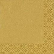 Ubrousky Duni 33x33 zlaté 20 ks