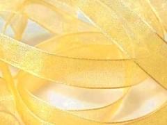 Šifónová sytě žlutá stuha 12 mm x 25 m