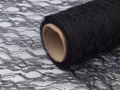 Šerpa na stůl krajka černá 50 cm x 4,5 m