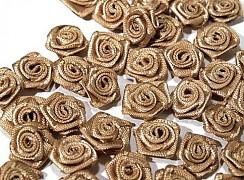 Růžička na svatební vývazek světle hnědá 12 mm