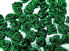 Růžička na svatební vývazek smaragdově zelená 12 mm