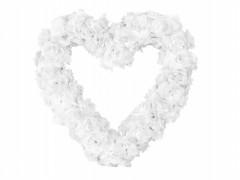 Dekorační srdce bílé růže