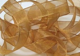 Šifónová medově zlatá stuha 12 mm x 25 m