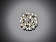 Perličková brož 25 mm