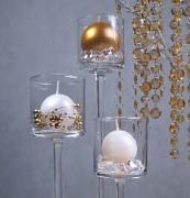 Girlanda krystalky ø 18 mm zlaté 1 m