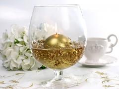 Perličky na silikonu zlaté
