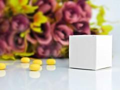 Krabička na svatební mandle bílá 10 ks
