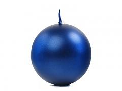Svíčka koule tmavě modrá perleťová ø 60 mm