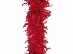 Péřové boa vínově červené 180 cm