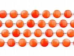 Girlanda krystalky ø 18 mm mandarinkově oranžové 1 m