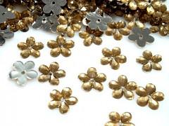 Aplikace zlatá kytička 11 mm