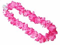Havajský květinový věnec růžový