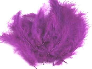 Ozdobné peříčko fialové lila 20 ks
