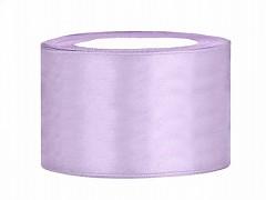 Stuha saténová světle fialová lila 38 mm x 25 m