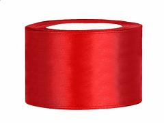 Stuha saténová červená 38 mm x 25 m