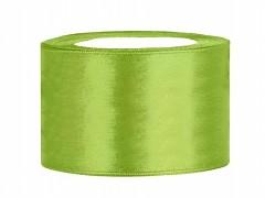 Stuha saténová světle zelená 38 mm x 25 m