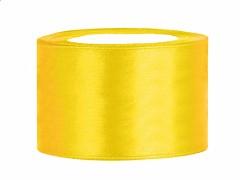 Stuha saténová žlutá 38 mm x 25 m