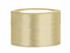 Stuha saténová zlatá 38 mm x 25 m