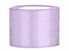 Stuha saténová světle fialová lila 50 mm x 25 m