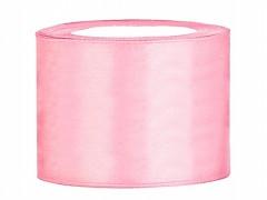 Stuha saténová světle růžová 50 mm x 25 m