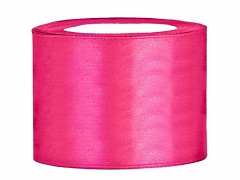 Stuha saténová sytě růžová 50 mm x 25 m