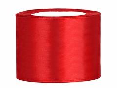 Stuha saténová červená 50 mm x 25 m