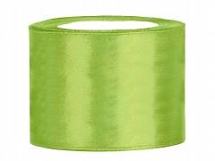 Stuha saténová světle zelená 50 mm x 25 m