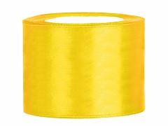 Stuha saténová žlutá 50 mm x 25 m