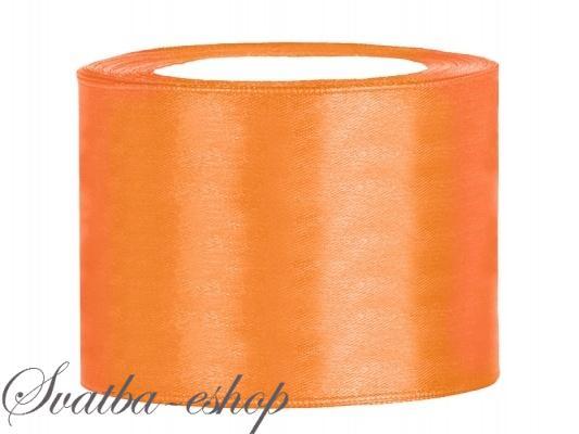 Stuha Satenova Oranzova 50 Mm X 25 M Oranzove Satenove Siroke