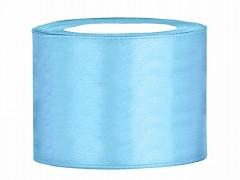 Stuha saténová světle modrá 50 mm x 25 m