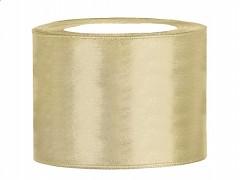 Stuha saténová zlatá 50 mm x 25 m