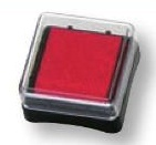 Razítkovací polštářek červený
