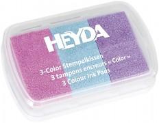 Razítkovací polštářek růžová / modrá / fialová