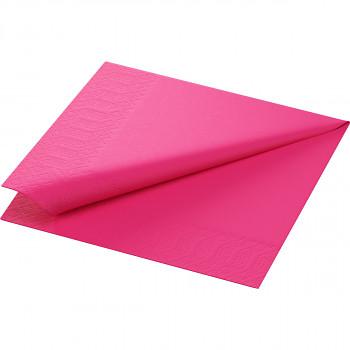 Ubrousky Duni 33x33 sytě růžové 20 ks
