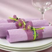 Ubrousky vytlačované světle fialové lila 16 ks