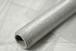 Obšitá organza 38 cm x 9 m stříbrná